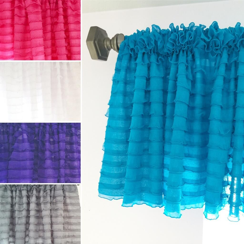 Ruffle Valance Unique Curtain - Many Colors Available - Great for ...