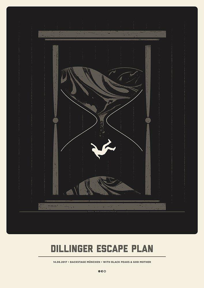 Dillinger Escape Plan Munchen 2017 By Simon Marchner Concert Poster Design Escape Plan Omg Posters