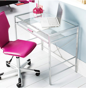 The Best Desks For Small Spaces Glass Top Desk Glass Desk Modern Glass Top Desk