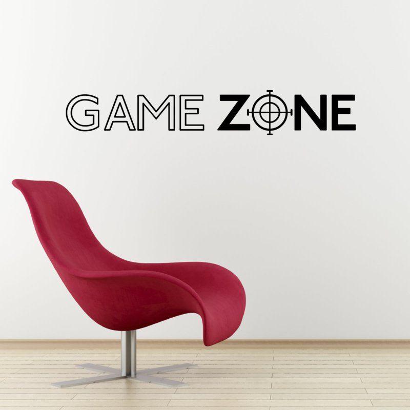 kreative Wandgestaltung Ideen - GAME ZONE Wandtattoo - wandtattoo braune wand