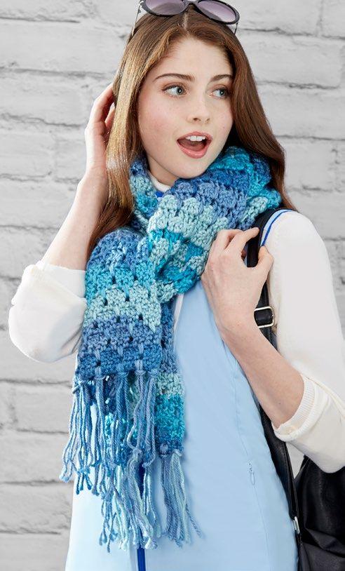 Free Larksfoot Scarf Crochet Pattern From Wwwredheartcom Scarfs