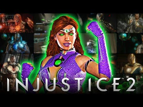 Injustice 2 All Starfire Intro Dialogues