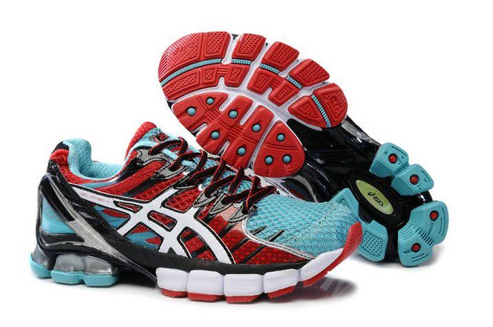 Asics Gel Kinsei 4 Mens Claret Red Blue Silver Joggesko  Sneakers
