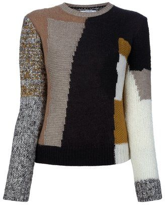 b324c3f1ea03 ShopStyle  Carven pattern knit sweater