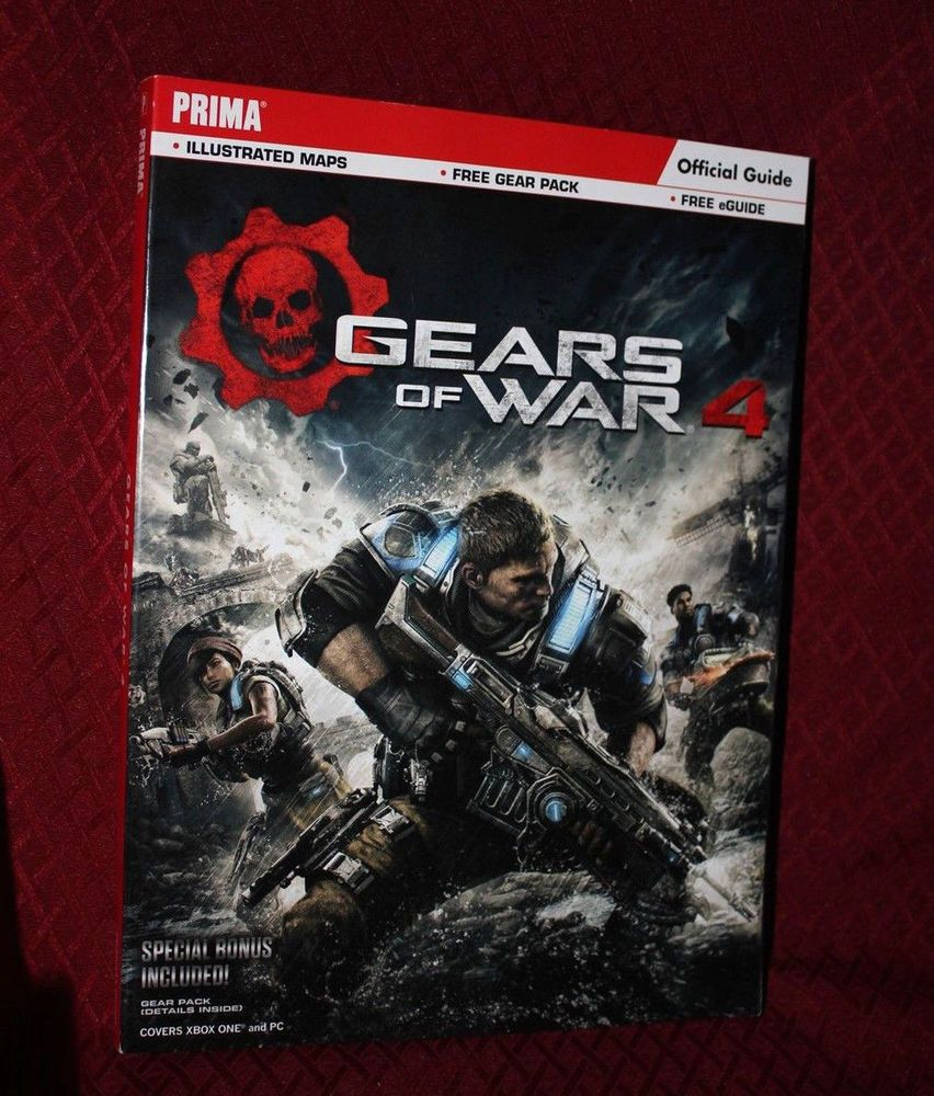 Gears Of War 4 Strategy Guide Xbox One Pc Prima Free Shipping