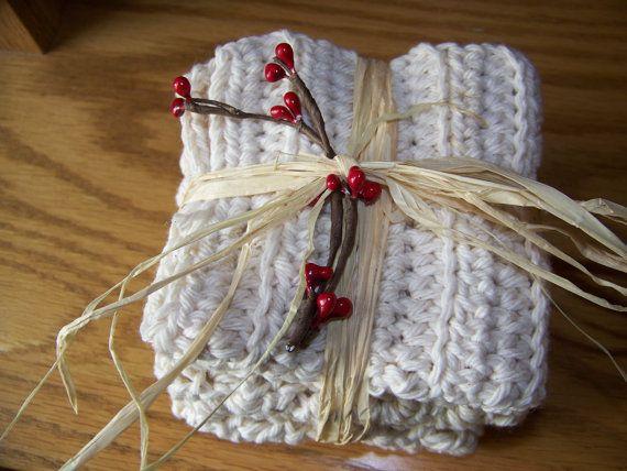 Cotton Crocheted Dishcloth by MondaysChildPrims
