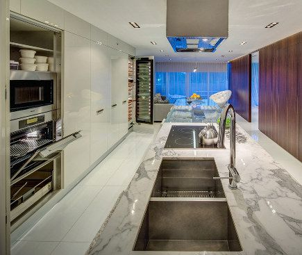 Kitchen Designers Miami Stunning Minimalist Galley Kitchen  Miele Award Winning Kitchen Decorating Design