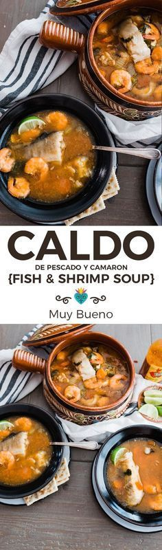 Excellent for a Lenten meal this fish stock and shrimp in a chipotletomato brot