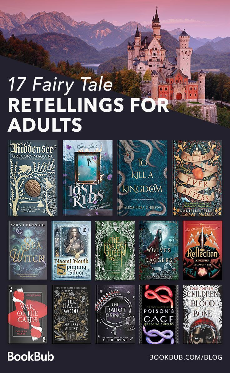 17 fairy tale retellings for adults! #fantasynovels #bookstoread #readinglist