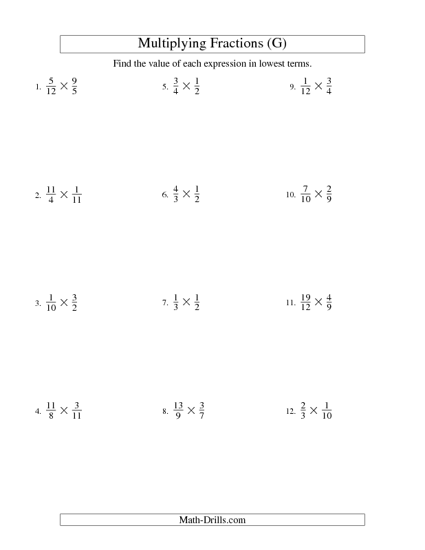 Multiplying and Simplifying Proper and Improper Fractions (G ...