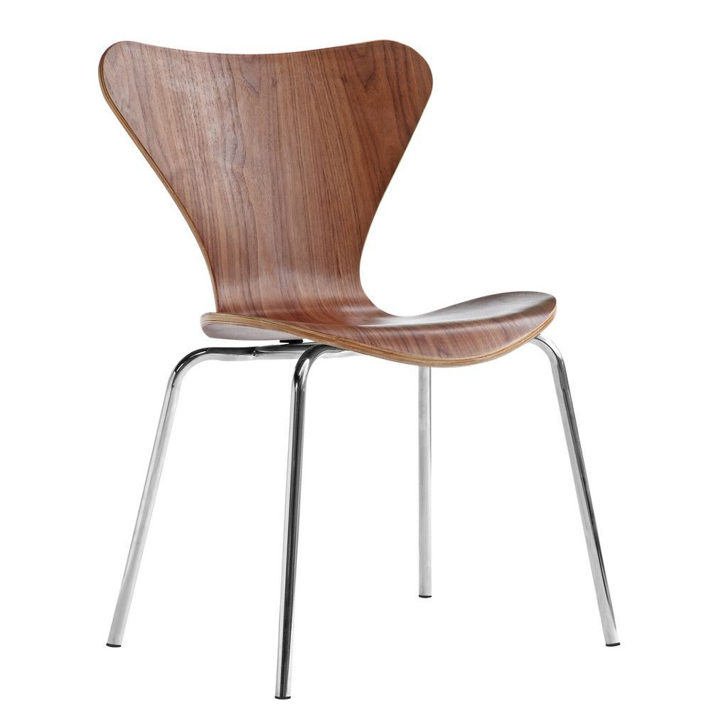 Simple plywood chair - A Molded Plywood Chair With Chrome Legs A Simple Design With Maximum Comfort It