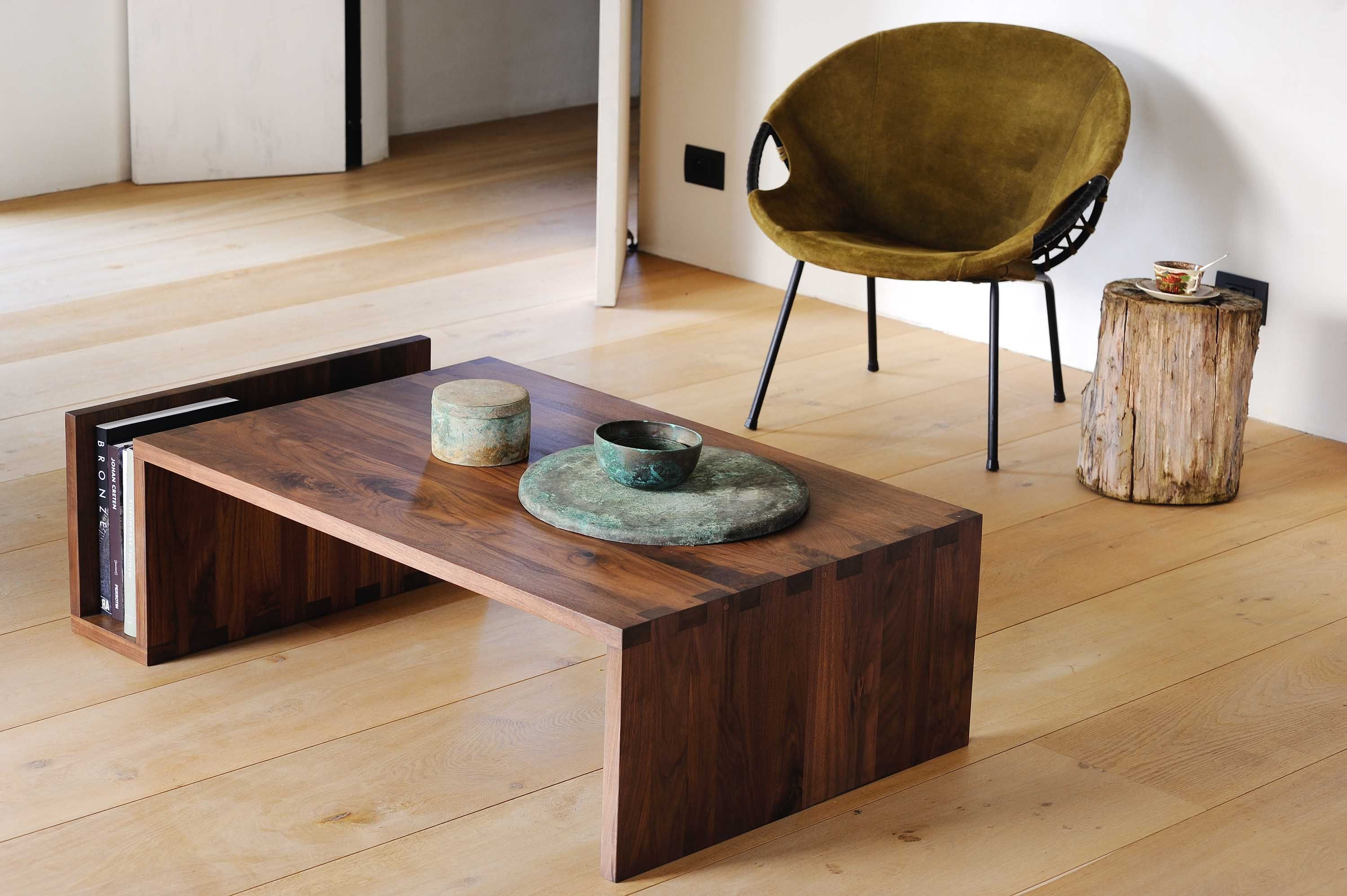 NAOMI COFFEE TABLE in walnut by Ethnicraft The darker hued walnut