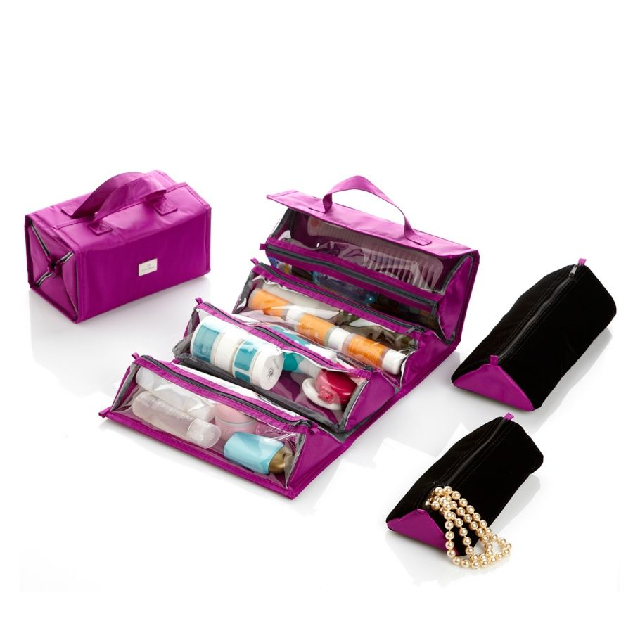 Joy Mangano Ultimate Better Beauty Case Set with Plush Bonuses at