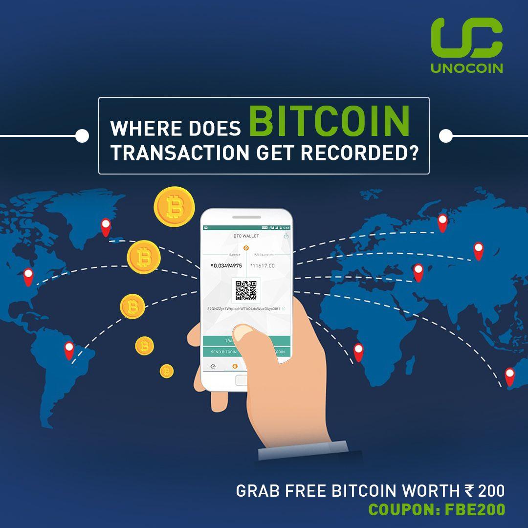 Where does bitcoin transaction get recorded? A) Public Ledger B) Private Ledger C) Bank Ledger D ...