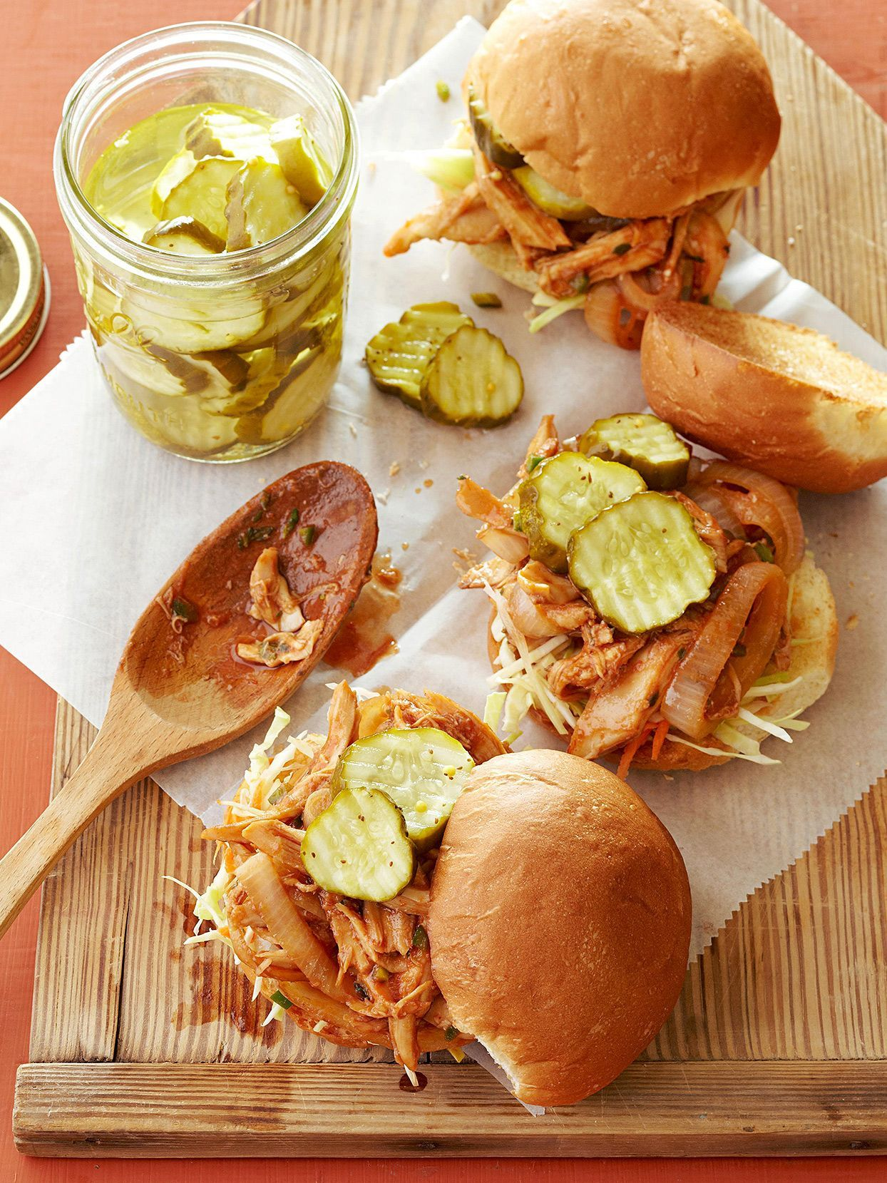 Barbecue is usually a low-and-slow, all-day process. But thanks to rotisserie or leftover chicken, you can prep this oh-so-easy meal in about 30 minutes. #dinnerideas #chickenrecipes #bestchickenrecipes #easydinnerideas #bhg