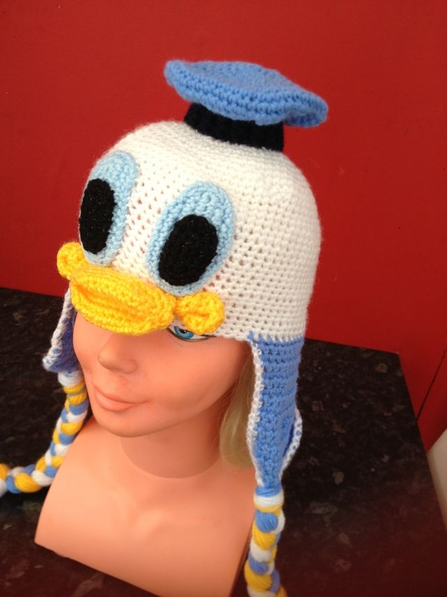 Crochet Baby Character Hat Donald Duck Crochet Häkeln Stricken