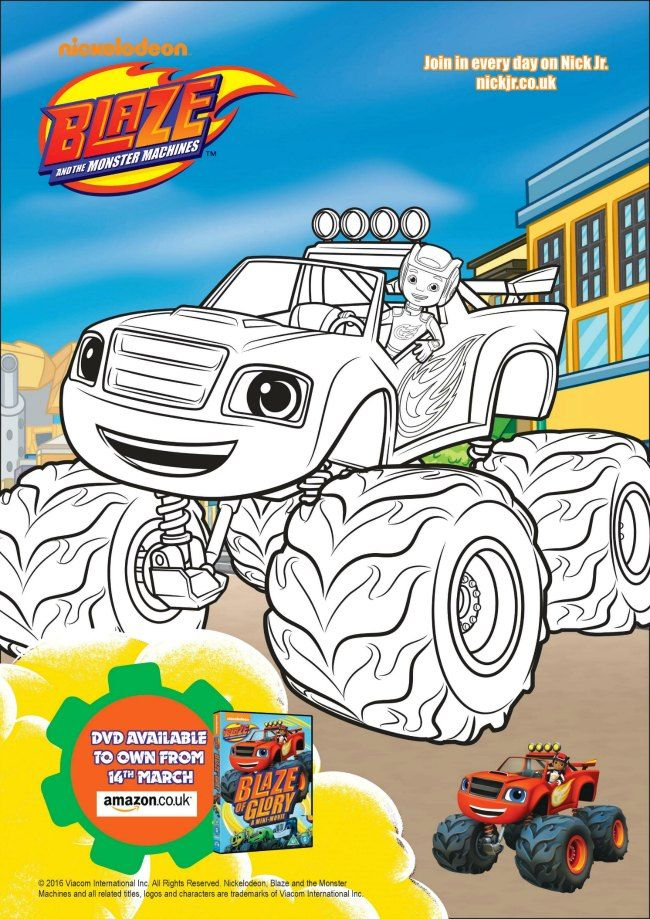 Blaze And The Monster Machines Printables Children Coloring