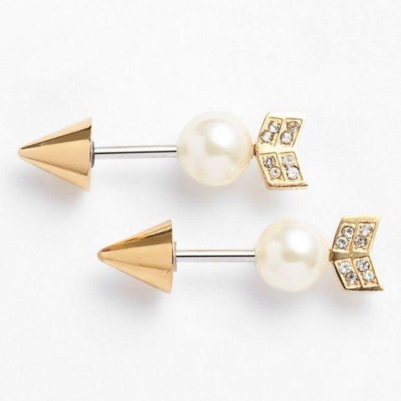 Rebecca Minkoff Gold Arrow Stud Earrings