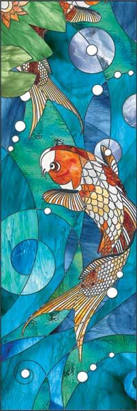 Stained glass koi pond designed by matt ehrsam beautiful for Koi pond glass