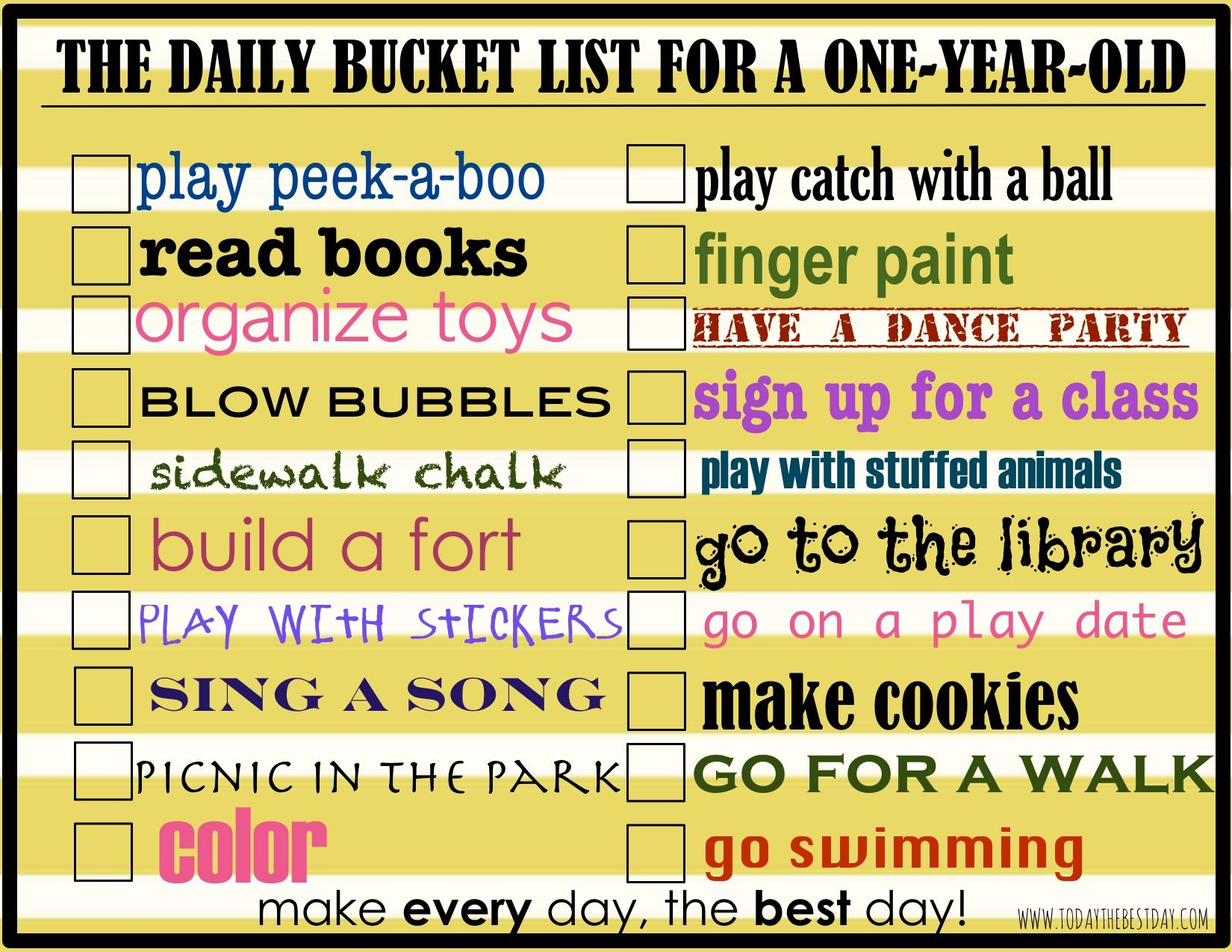 Daily Activities To Do With Your One Year Old Today S The Best Day Infant Activities Activities For 1 Year Olds Activities