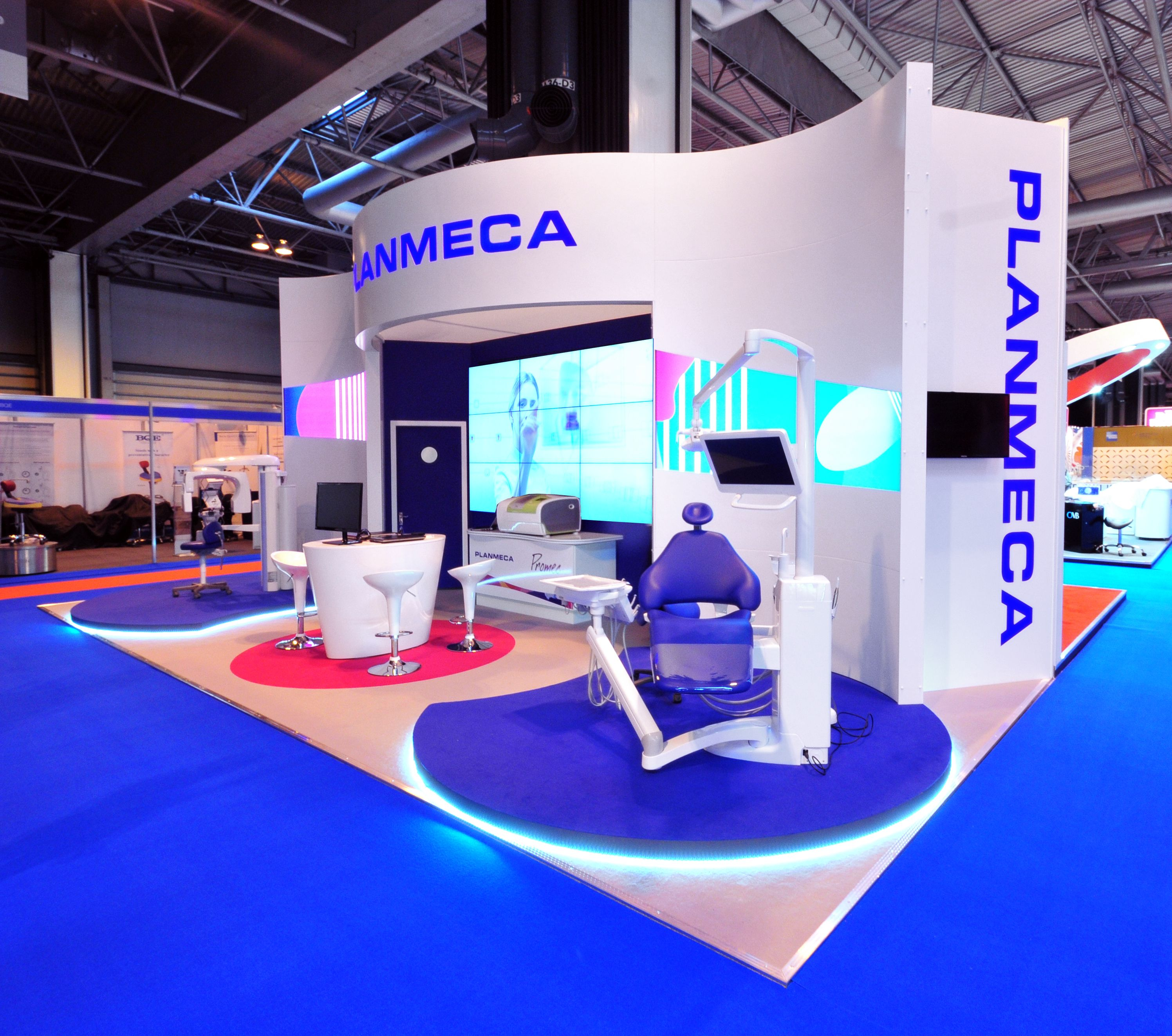 Exhibition Stall Reference : Planmeca dentistry show nec exhibition stalls