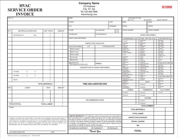 Hvac Service Invoice Jpg  Hvac