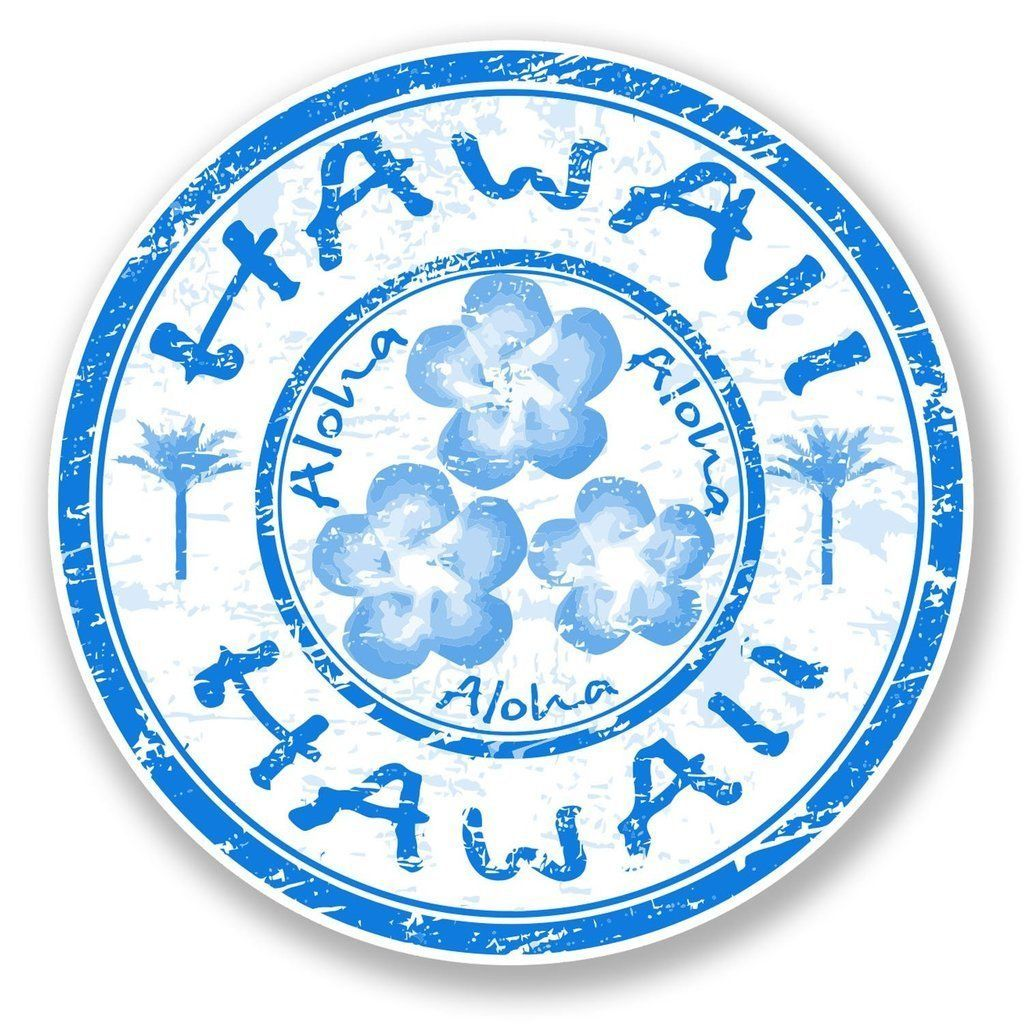 2 X Aloha Hawaii Vinyl Sticker Laptop Travel Luggage Car 6758 Vinyl Stickers Laptop Aloha Sticker Travel Stamp [ 1024 x 1024 Pixel ]