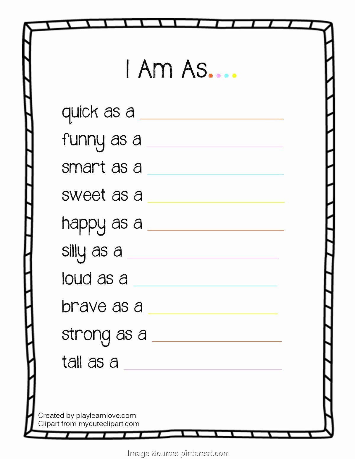 I Am Poem Worksheet Inspirational All About Me Poem