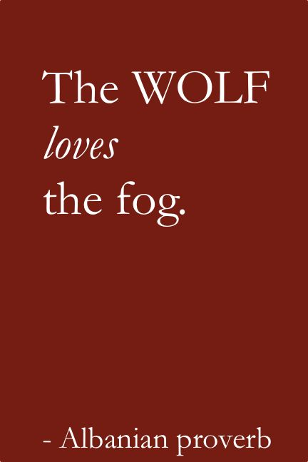 The wolf loves the fog  - Albanian proverb #albania #proverbs