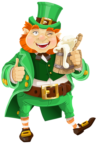 st patricks day leprechaun with beer transparent png clip art image rh pinterest com