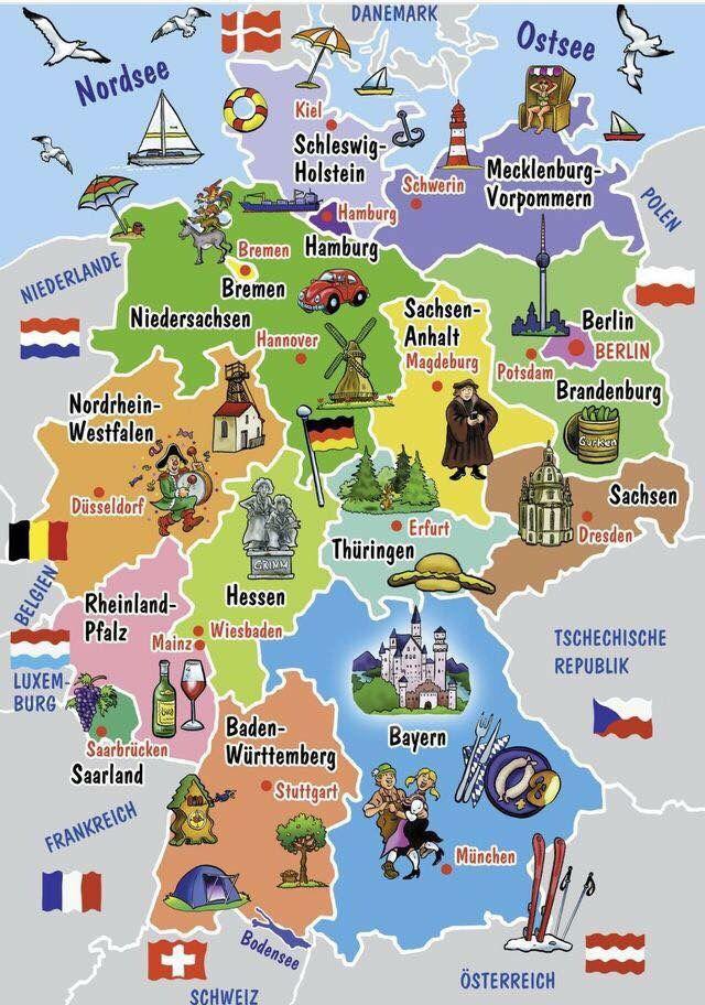 Deutschland Deutsch Lernen Deutsch Und Deutsche Bundeslander