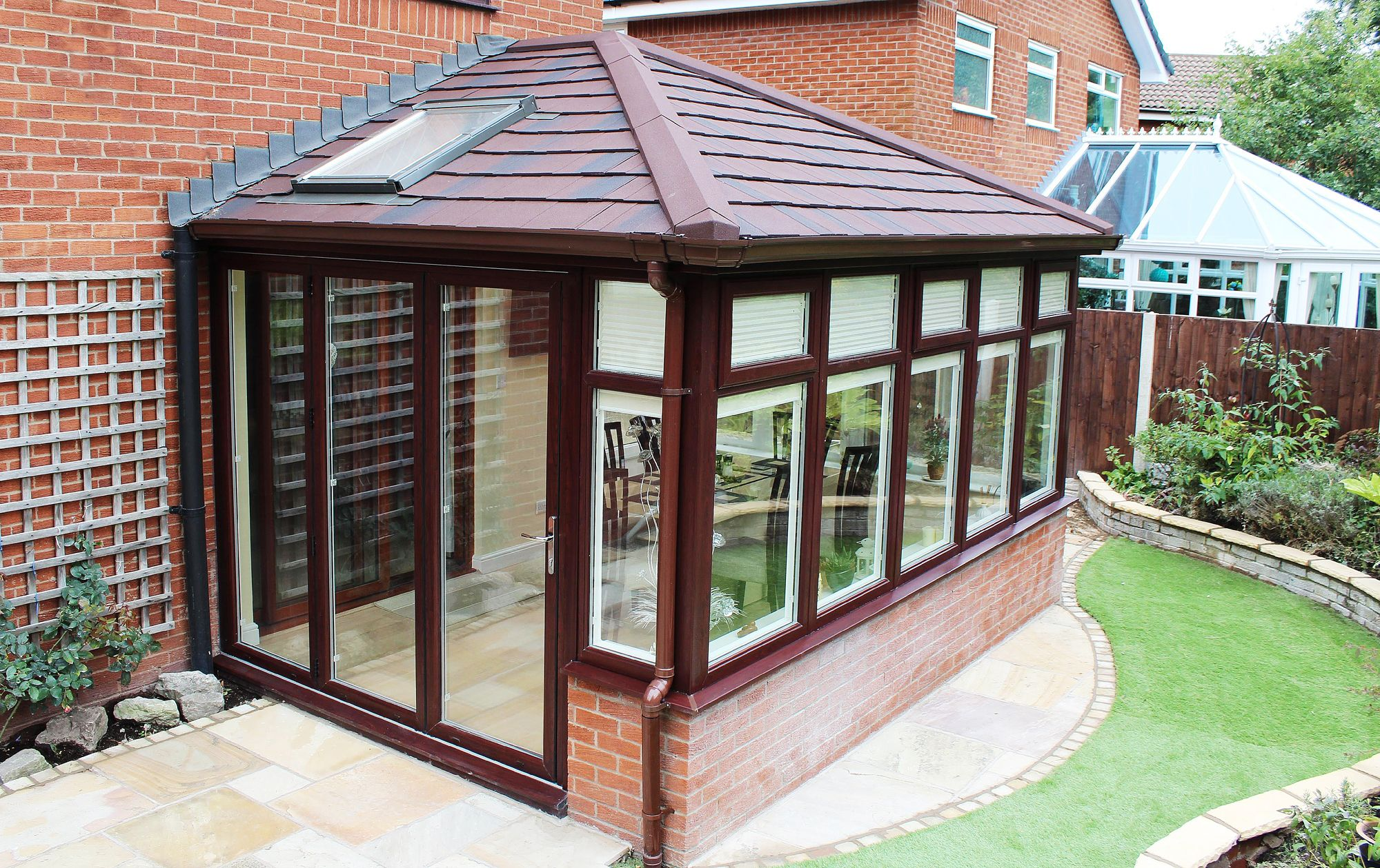 Supalite Roofing A Fantastic Light Weight Solution Offering A Solid Tiled Effect Roofi Tiled Conservatory Roof Conservatory Roof Replacement Conservatory Roof