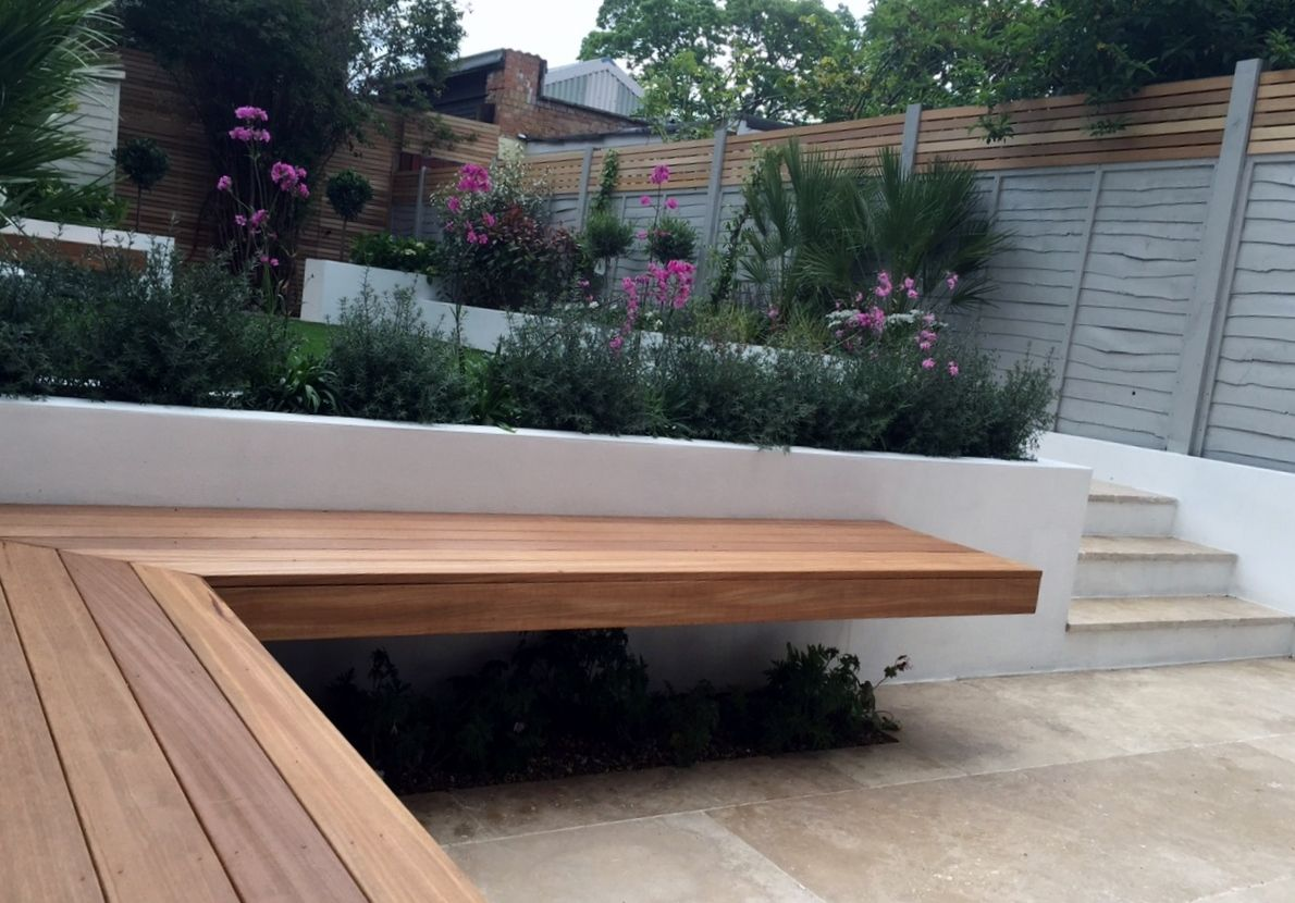 cantilevered benches - google search | tuin | pinterest | garden
