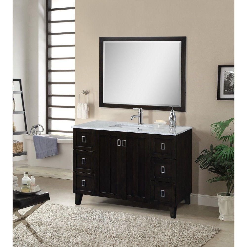 48 Traditional Single Sink Bathroom Vanity Dark Brown By Infurniture Model In3248 Db Bathroom Vanity Bathroom Top Single Sink Bathroom Vanity