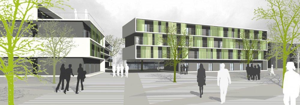 student dormitory nickl partner architekten student. Black Bedroom Furniture Sets. Home Design Ideas