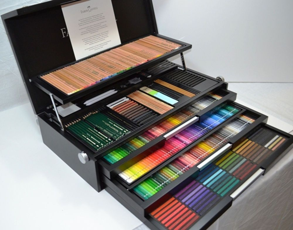 Faber Castell 250th Anniversary Limited Edition Art Graphic Wood Case Set Faber Castell Art Materials Drawing Supplies
