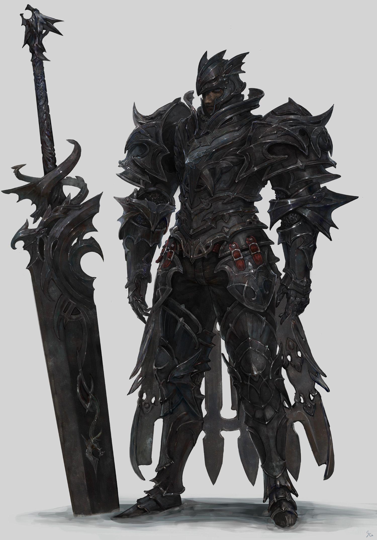 Artstation Black Knight Sanha Kim Concept Art Characters Fantasy Concept Art Fantasy Character Design