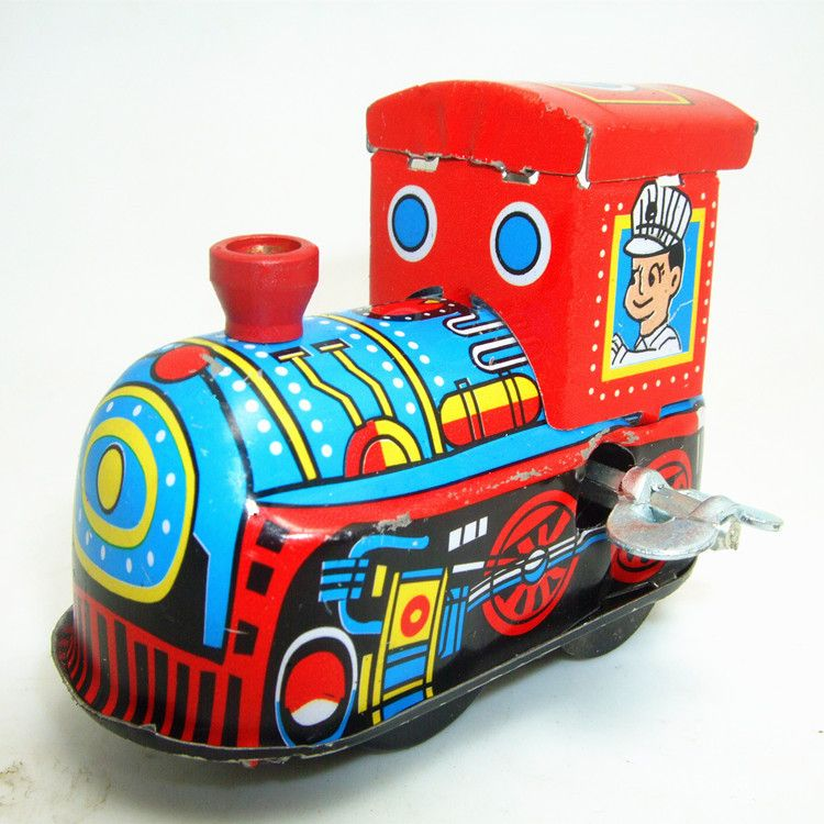 Track Train Kids Classic Wind Up Clockwork Educational Toy For Children