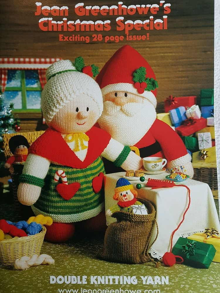 JEAN GREENHOWE CHRISTMAS SPECIAL, TOY KNITTING PATTERN BOOK CHRISTMAS KNITTING P