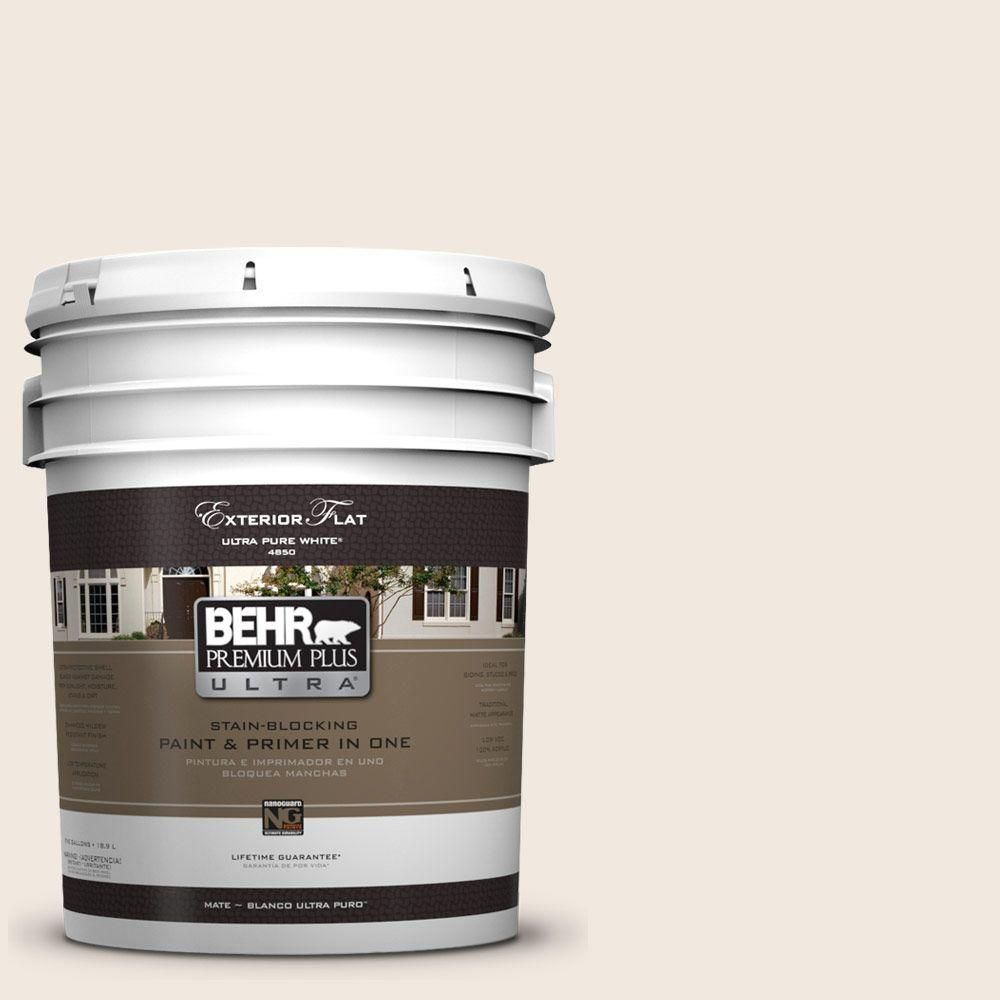 Behr Premium Plus Ultra 5 Gal Ul150 9 Pillar White Flat Exterior Paint Exterior Paint Behr Premium Plus Ultra Behr Ultra