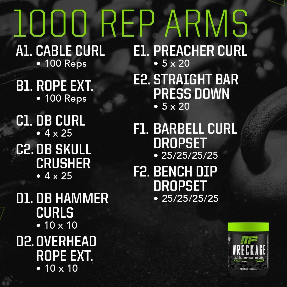 Completegymworkoutplan Ectomorph Workout Musclepharm Workouts Arm Workout