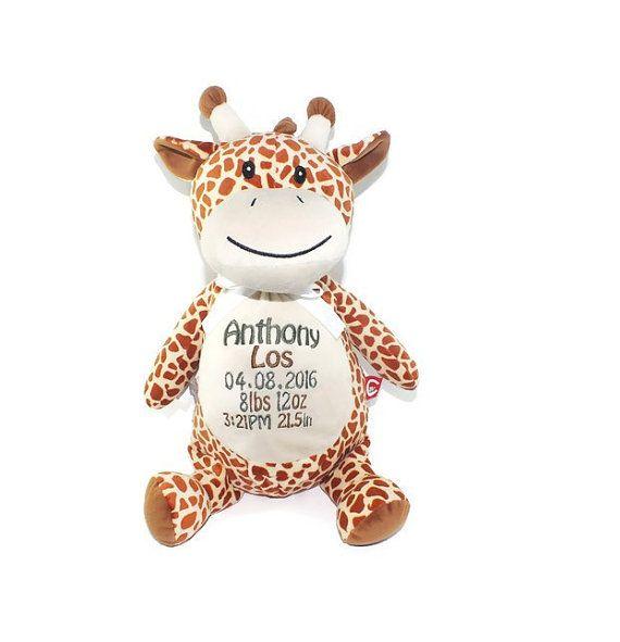 Personalized giraffe personalized stuffed animal baby shower personalized giraffe personalized stuffed animal baby shower gift baby keepsake giraffe negle Gallery