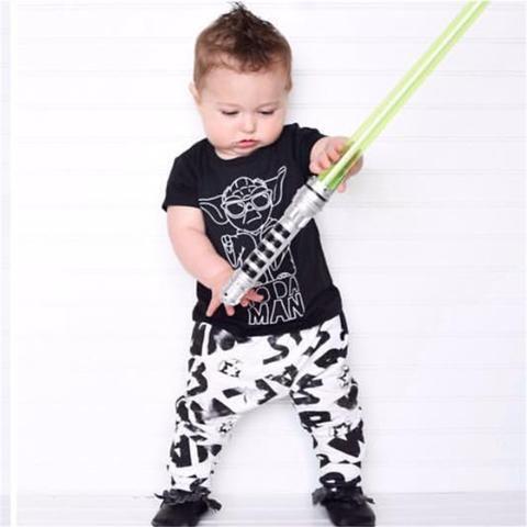 efb0d360a 2018 summer fashion baby boy clothing set short sleeve black baby boys  clothes star wars t-shirt+pants newborn 2pcs suit