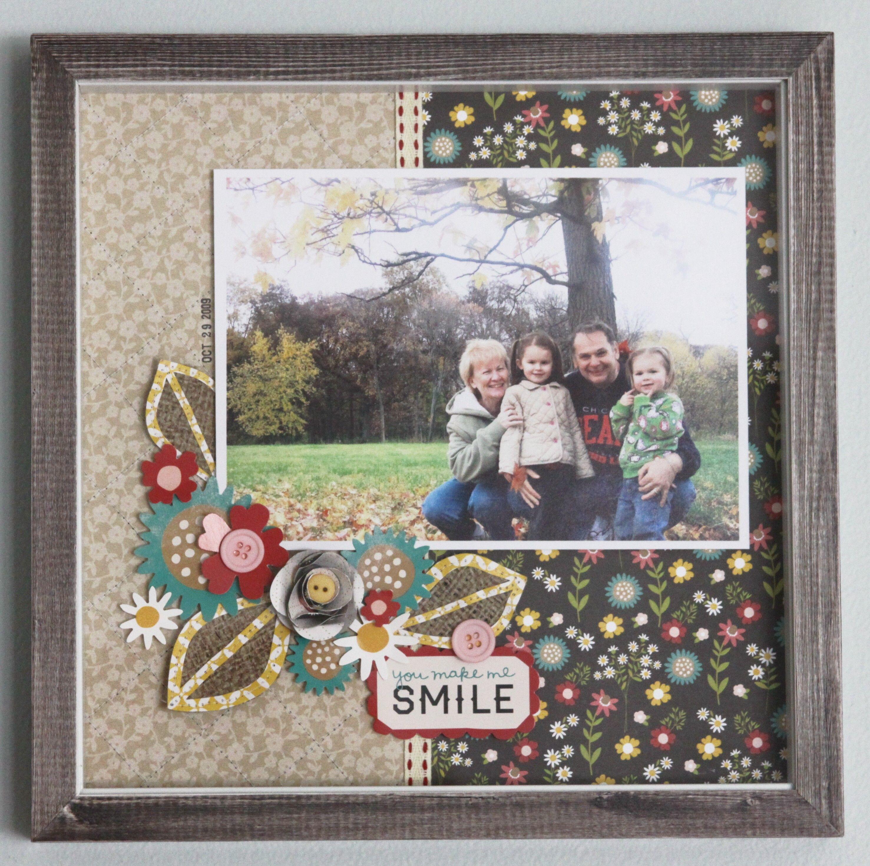 You Make Me Smile Scrapbook Frame