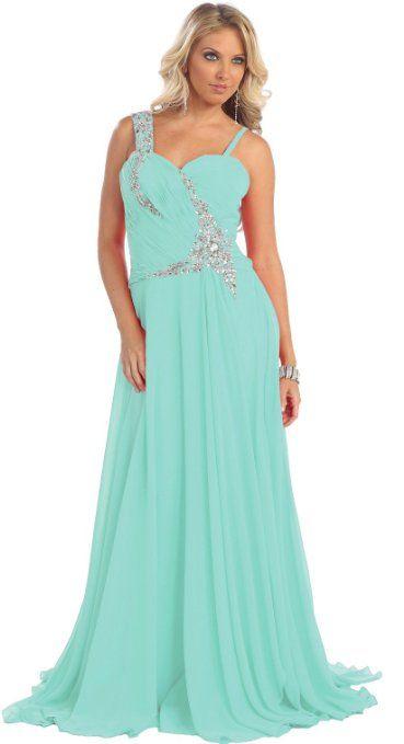 Amazoncom Us Fairytailes Rhinestone Chiffon Dress Long Gown 21027