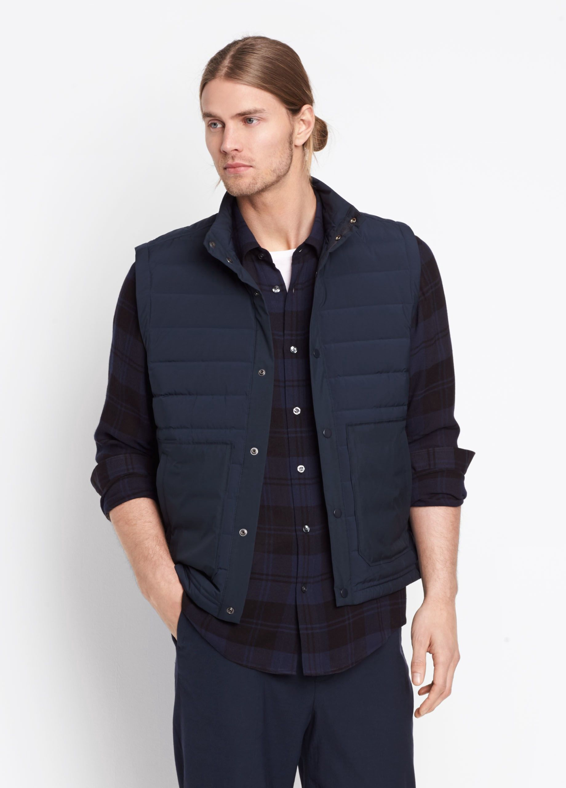 VINCE Quilted Down Vest - Coastal Blue. #vince #cloth #all | Vince ... : vince quilted jacket - Adamdwight.com