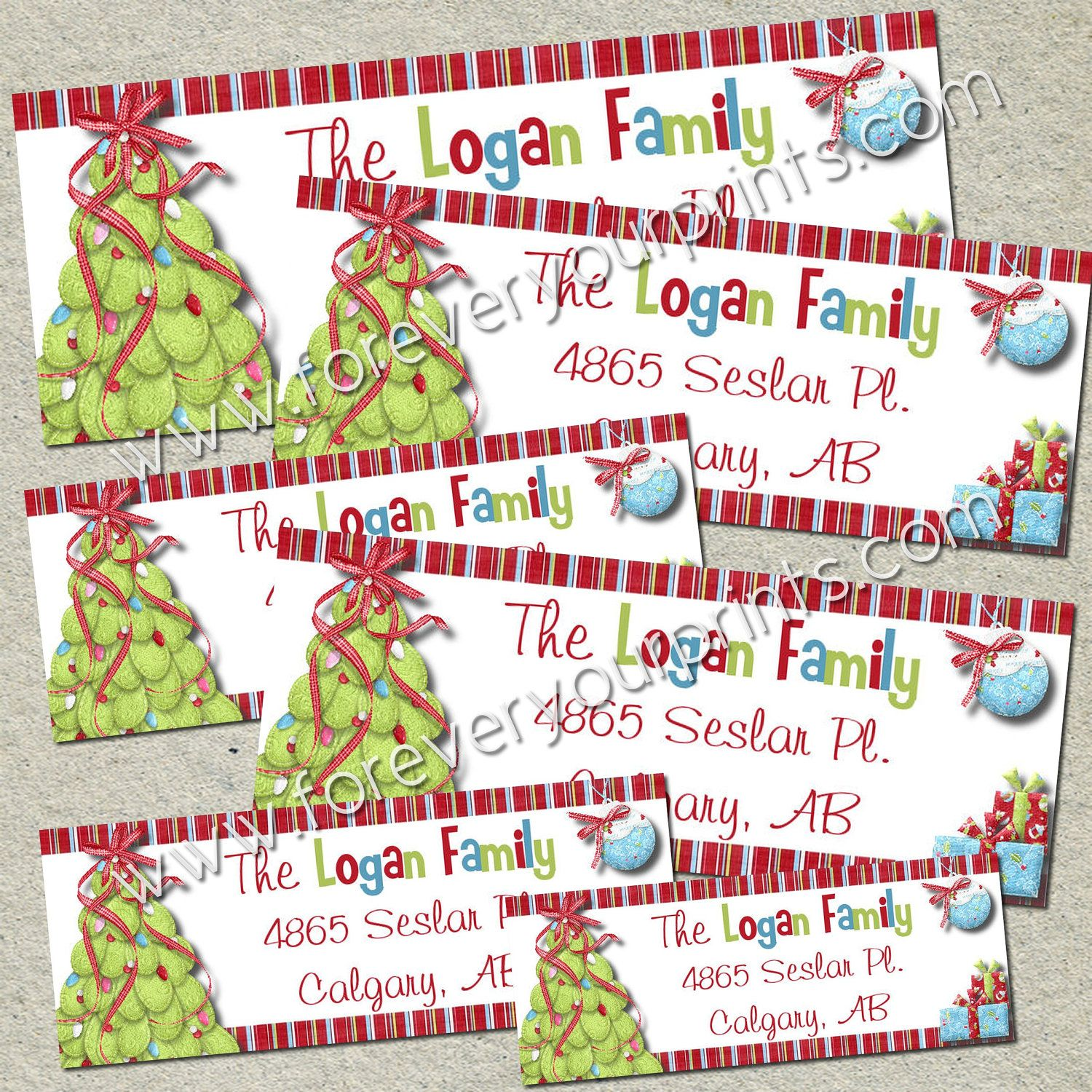 christmas return address labels diy you print print unlimited