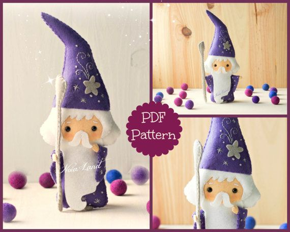 PDF. The wizard Merlin. Plush Doll Pattern, Softie Pattern, Soft ...