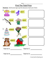 adding money worksheet 1 | Money | Pinterest | Money worksheets ...