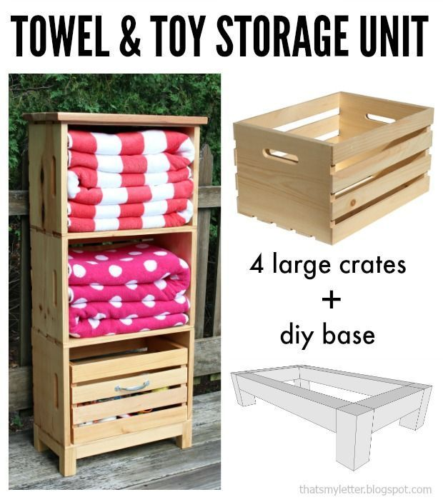 Pool Toy Storage Diy: Diy Poolside Storage Unit Using Crates